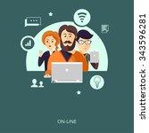 vector illustration.  group of... | Shutterstock .eps vector #343596281