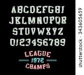 vector slab serif headline... | Shutterstock .eps vector #343605659