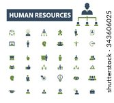human resources  management... | Shutterstock .eps vector #343606025