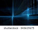 digital technology abstract... | Shutterstock . vector #343619675