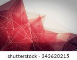 abstract polygonal space low... | Shutterstock . vector #343620215