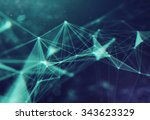 abstract particles background | Shutterstock . vector #343623329