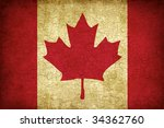 Grunge Texture Canadian Flag