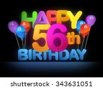 happy 56th title in big letters ... | Shutterstock . vector #343631051