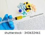 drugs for hypothyroidism...   Shutterstock . vector #343632461