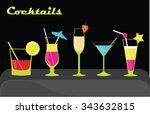 cocktails | Shutterstock .eps vector #343632815