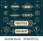 set of monograms  logos and... | Shutterstock .eps vector #343633721
