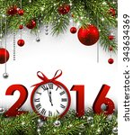 2016 new year background with... | Shutterstock .eps vector #343634369