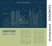 great city map creator. outline ... | Shutterstock .eps vector #343638431