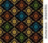 damask beautiful background... | Shutterstock .eps vector #343643501