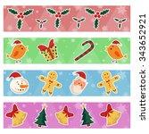 merry christmas celebration... | Shutterstock .eps vector #343652921