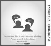 forum icon | Shutterstock .eps vector #343655321