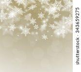 abstract golden christmas... | Shutterstock .eps vector #343659275