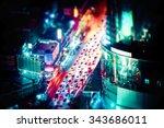 tilt shift blur effect.... | Shutterstock . vector #343686011