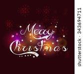 merry christmas | Shutterstock .eps vector #343694711