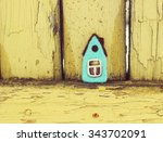 Little House  Yellow Vintage...