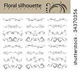 flower background | Shutterstock .eps vector #34370356