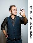 a young business man... | Shutterstock . vector #343703987