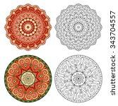 set of abstract design elements.... | Shutterstock .eps vector #343704557