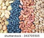 a assortment of dried fava... | Shutterstock . vector #343705505