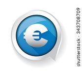 euro sign label vector blue | Shutterstock .eps vector #343708709