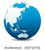 china  japan  malaysia ... | Shutterstock . vector #343714751