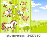 cartoon animals  jpeg | Shutterstock . vector #3437150