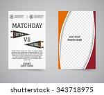 american football matchday back ... | Shutterstock .eps vector #343718975