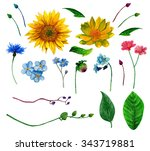 Rustic Flowers Clipart ....
