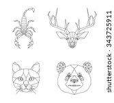 Vector Polygonal Animal...