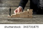 businessman building a... | Shutterstock . vector #343731875
