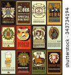 beer labels set  design...   Shutterstock .eps vector #343734194