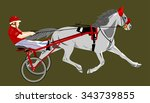 horse chariot carrying a rider   Shutterstock .eps vector #343739855