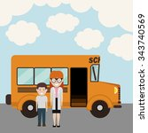 back to school design  vector...   Shutterstock .eps vector #343740569