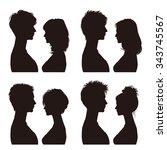 couple   profile | Shutterstock .eps vector #343745567