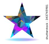 abstract lovely colored star... | Shutterstock . vector #343745981