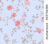 flowers seamless pattern   for... | Shutterstock . vector #343746584