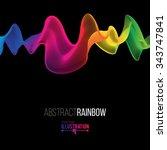abstract rainbow lines design.... | Shutterstock .eps vector #343747841