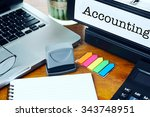 accounting   office folder on... | Shutterstock . vector #343748951