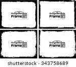 grunge frame texture set  ... | Shutterstock .eps vector #343758689