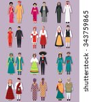 set of national costumes design.... | Shutterstock .eps vector #343759865