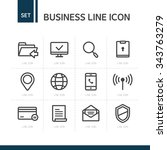 vector business line icon set | Shutterstock .eps vector #343763279