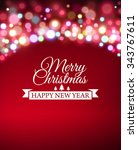 christmas post card template.... | Shutterstock .eps vector #343767611