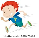 boy running very fast... | Shutterstock .eps vector #343771604