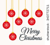 merry christmas colorful card... | Shutterstock .eps vector #343772711
