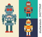 robot concept and technology... | Shutterstock .eps vector #343775969