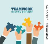 business teamwork and... | Shutterstock .eps vector #343779791