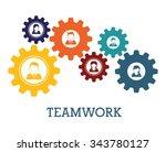 business teamwork and... | Shutterstock .eps vector #343780127