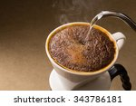 is brewed coffee | Shutterstock . vector #343786181