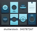 set of brochure  poster... | Shutterstock .eps vector #343787267